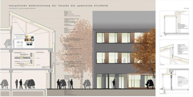 wettbewerbs ergebnis energetische modernisierung der fassaden des gymnasiums kirchheim. Black Bedroom Furniture Sets. Home Design Ideas