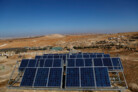Comet-ME solar panel array in the south Hebron hills (2011) - Foto: Tomer Appelbaum
