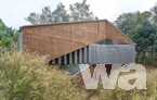 Honorable mention in architectural design: Wallmakers, Kerala